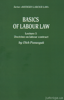Basics of Labour Law. Lecture 5. Doctrine labour contract